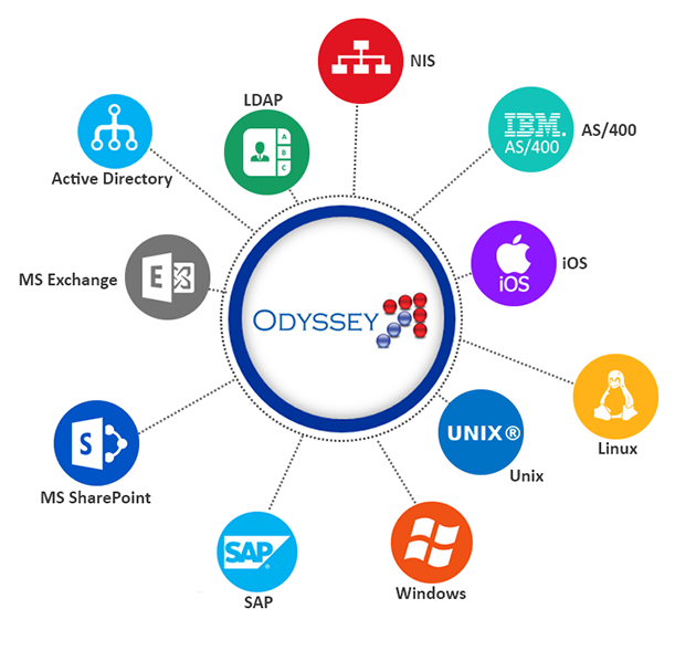 Image highlighting Odyssey's Security and Policy forms allow you to enter new user's data once
